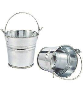 Mini Metal Tin Bucket Favor Container Wedding Shower Rustic Party Decoration 20