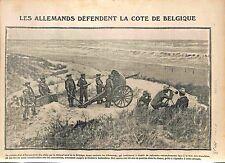 Soldiers Feldgrauen Deutsches Heer Artillery Coast of Belgium Belgique WWI 1914
