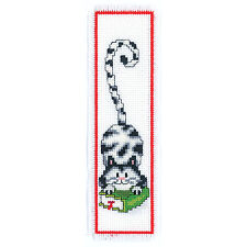 Black and White Cat : Vervaco Counted Cross Stitch Kit : Bookmark -  PN0011267