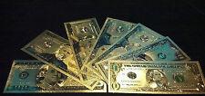 <Mint Striking Banknote Set>$1-$2-$5-$10-$20-$ 50-$100 W/Coa~Free Fast S&H