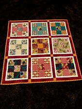 "Riley Blake Cotton handmade ""BABY quilt""~54x54"" square 9 patch~machine quilted"
