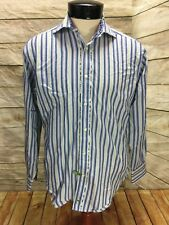 Tailorbyrd Shirt LS Men's Small Paisley Flip Cuff Off Collar