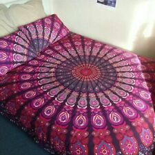 Indian Multi Pink Queen Size Bedding Cover Mandala Bed Sheet Covers Set Tapestry