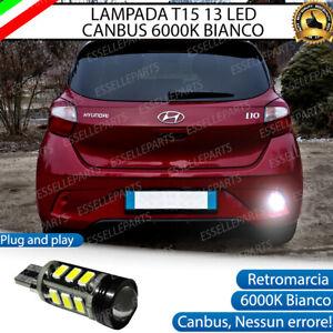 LAMPADA RETROMARCIA 13 LED T15 W16W CANBUS HYUNDAI I10 MK3 6000K NO ERROR