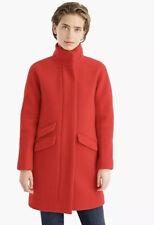 JCREW Size 0 Red Cocoon Coat in Italian stadium-cloth Wool J8375