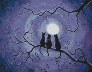 BEWITCHED BY THE MOON # 3 - COUNTED CROSS STITCH CHART