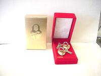 "Vintage Brass Lovelock 1 7/8"" Heart Shaped Padlocks set of 2 with keys"