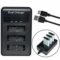 USB Triple Battery Charger for Sony NP-BX1 Cyber-shot DSC-RX100M7 (RX100 VII)