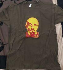 Men's L American Apparel Vladimir Lenin T-shirt Brown