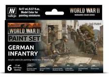 German Infantry 6 Paint Set for Model WW2 Soldiers (Vallejo 70206)