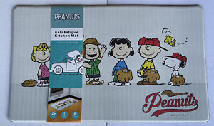 """Peanuts Gang Snoopy Mat Kitchen Padded Floor 18""""X30"""" Home Decor Anti Fatigue New"""