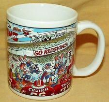 REDSKINS MUG WASHINGTON FOOTBALL NFL NEW YORK GIANTS NY COFFEE CUP BRUCE DAY.