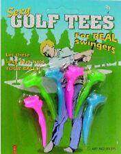 2 x Golf Tees Sexy Nude Female 6 Pk Bucks Stag Bachelor Party Novelty Golfer Fun