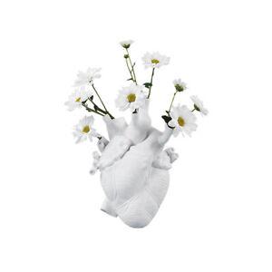 Resin Flower Vase Anatomical Heart Flower Pot Decoration Livingroom Hotel
