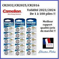 Piles/Cell bouton Camelion 3V Lithium CR2032/2025/2016, exp rapide, gratuite !