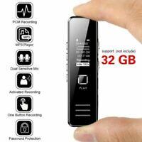 32G Mini-enregistreur audio numérique audio Dictaphone MP3 Player usb charge