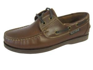 Seafarer Yachtsman Ladies Deck Shoe Brown  FREE POST  Leather Brown Deck Shoes