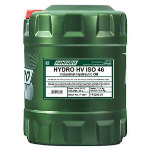 20 Litro FANFARO Hydro Hv Iso 46 Olio Idraulico