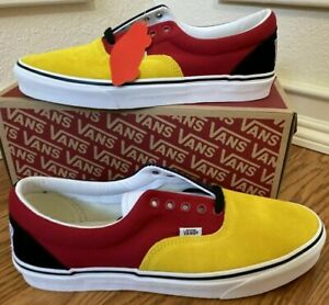 Vans Era OTW Rally Skate Shoes Yellow Blue Red Mens Sz 8