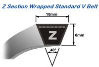 Z15 - Z60 Branded Z Section Wrapped V Belts 10mm X 6mm - High Quality