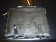C&C Italy Genuine Black Leather Bag Satchel Computer Lap Top