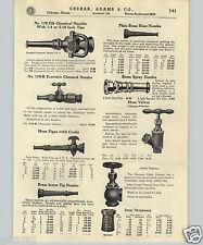 1937 PAPER AD Elk Elkhart Fireman Chemical Nozzle Hose Pipe Pet Cock Axe Pick