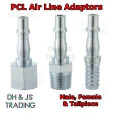 PCL Air Line Adaptors for Vertex & Airflow Couplings - Airline Male Female Tail