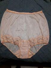 Vintage Vanity Fair Nylon Peach Granny Panties Pillow Tab Approximate size 8