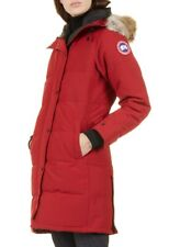 Canada Goose Shelburne Genuine Coyote Fur Trim Down Parka, Size XS RED