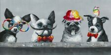 Four Dogs Cute Dressed Up Dog Canvas Print Art Painting Wall Home Decor 60x120cm