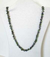 """Multi Color Zoisite Natural Stones Beads Strand Necklace 32"""" Long.  NWT  MCZ2"""