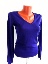 Uniqlo Womens Jumper V-Neck Purple Lavender Wool Pullover Knit Long Sleeve Sz XS