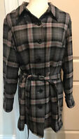 Pendleton Vintage Gray Black Red Plaid Wool Womens Fully Lined Pant Suit XL 18W