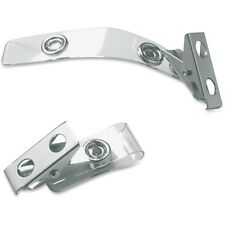 Baumgartens ID Strap Clips Prepunched Vinyl 25/PK Clear 68010