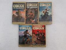 Lot of 5 CONAN 1 2 3 4 6 Fold-Out Covers Bantam Books 1978-1980