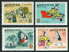 Korea 676-679, MI 702-705, MNH. Woodcutter, Fairies, Wife, Children, Heaven,1970