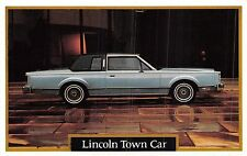 POSTCARD   MOTOR  CAR  ADVERT  LINCOLN    Town  Car