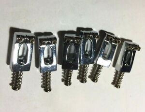 Chrome Bridge or Tremolo Saddles for Electric Guitar - Strat Type
