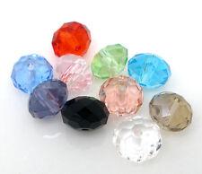 PD: 100 Mix Kristall Facettiert Glasperlen Schliffperlen Beads BICONE 8mm