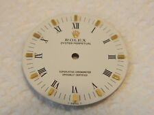 """with Roman numerals and gold markers Rolex white Oyster Perpetual """"no date"""" dial"""