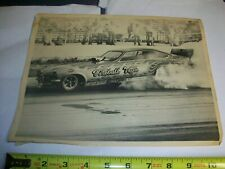 Vintage Original NHRA funny car  FIREBALL VEGA poster Hand out picture 1970 s