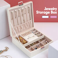 Jewelry Storage Box Earring Ring Lipsticks Display Case Organizer Flannel Holder
