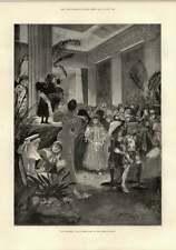 1897 Bambini'S Costume Palla Mansion House OPERA D'ARTE NAVE A VAPORE Ivy Benin