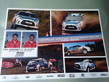 Carte postale Postcard CITROEN DS3 R3 WRC 2012 CHARDONNET