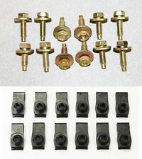 Mustang Fender Valance Bolts Set 1/4-20 12 Pc Gold Yellow Zink Plated w/ Nuts 24