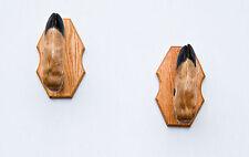 Whitetail Taxidermy Deer Hoof Gun Rack on Beautiful Oak Plaques Gunrack
