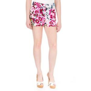 Shakuhachi Womens White Faux Leather Embroidered Casual Shorts M BHFO 1379