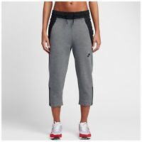 Nike Women's Sportswear Tech Fleece Crop Pants Carbon Heather Small