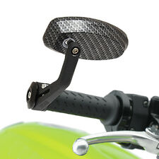 "RYDE CARBON UNIVERSAL MOTORCYCLE 22MM 7/8"" BAR END MIRRORS MOTORBIKE/BIKE PAIR"