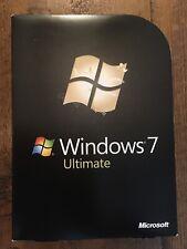 Microsoft Windows 7 Ultimate Full UK Retail box, 32 & 64 bit DVD's - GLC-00181